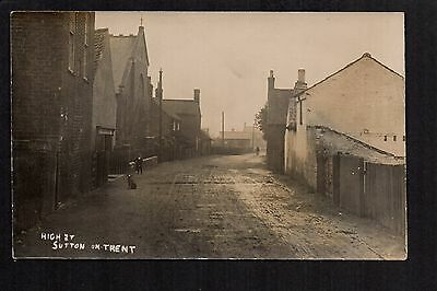 Sutton on Trent - High Street - real photographic postcard