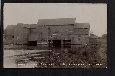 Scrooby - Old Monk's Mill - real photographic postcard by Welchman of Retford