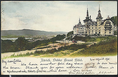 Switzerland Zurich 1901 Hotel Dolder picture postcard