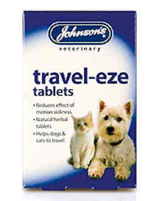 JOHNSONS TRAVEL EZE TABLETS 24 TABLETS reduces effect of travel sickness dog cat