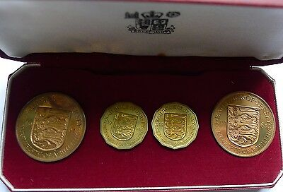 Jersey Royal Mint Proof Set 1964 1/4 and 1/12 Shilling
