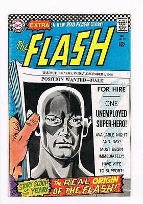Flash # 167 The Real Origin of The Flash ! grade 5.0 scarce hot book !!