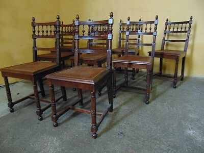 Beautiful  set of  9 - HENRI DEUX  style  WALNUT Dining chairs (AW188)