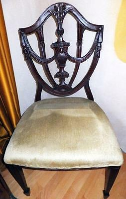 4x STUHL SATZ SET SITZ POLSTER MÖBEL CHAIR Barock Empire Biedermeier Jugendstil