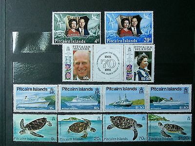 Pitcairn Island mint never hinged complete sets
