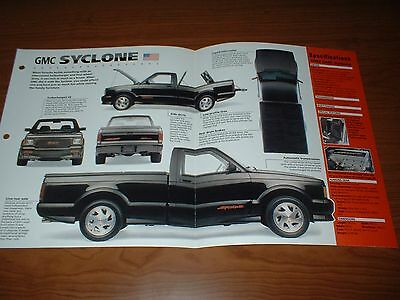 ★★1992 Gmc Syclone Spec Sheet Brochure Poster Print Photo 92 91 93 Turbo Sonoma★