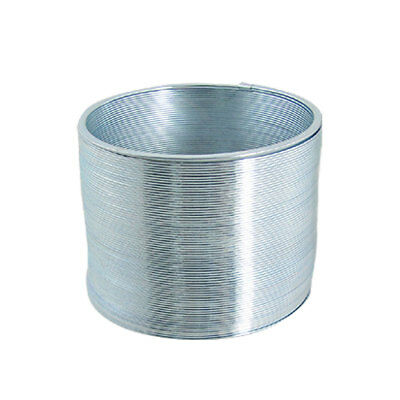 Child Classic Slinky Style Silver Tone Metal Spring Toy