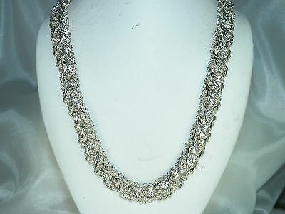 "Premex MP 76 Sterling Silver .925 Panther Chain Necklace 16.75"" 73.70 grms"