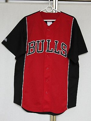 Vintage Chicago Bulls NBA Majestic Button Down Jersey Shirt L
