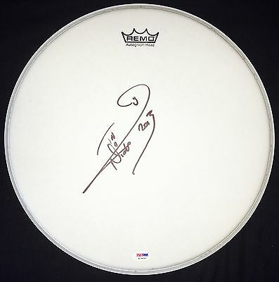 Nicko Mcbrain Autographed Signed Iron Maiden Psa/dna Drumhead