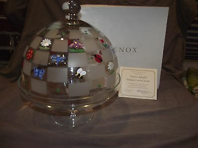 Lenox Nature's Splendor Glass Cake Stand with Domed Lid - With Box