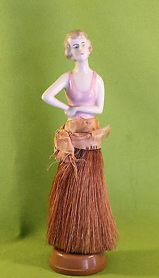 Antique Broom Doll Early 1900's Beautiful Woman w/ Classic Pose Comes w/ Stand