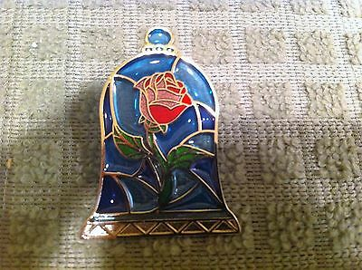 Disney Pin 114236 Beauty and The Beast Stained Glass Rose