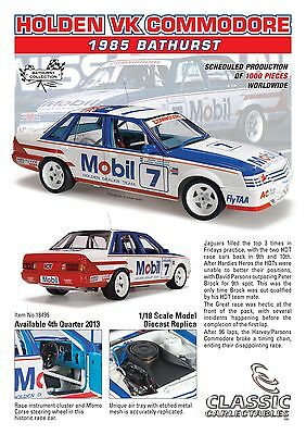 1985 Bathurst Holden VK Commodore Harvey/Parsons 1:18 Classic Carlectables Cars