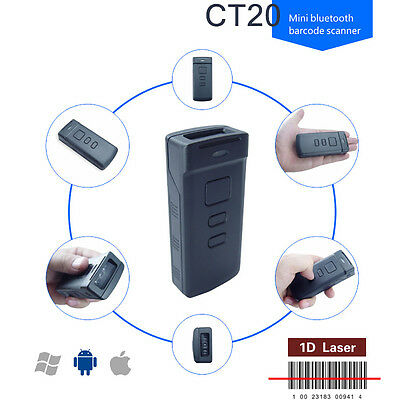 CT20 Wireless Mini Portable Bluetooth Barcode Scanner for Apple iOS Android Win7