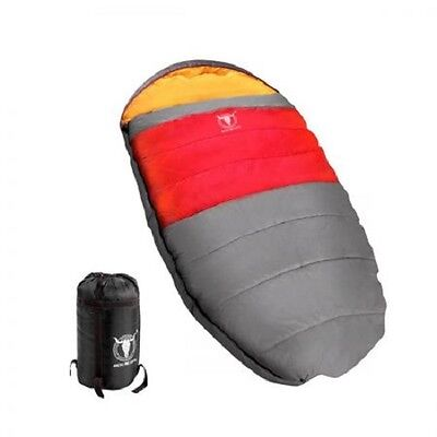 NEW -15C to +10°C Compact Pebble Shape Thermal Camping Sleeping Bag 190 x 100cm