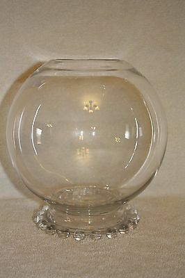 """Rare Candlewick 400/132 7 1/2"""" Footed Rose Bowl"""