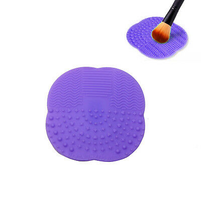 Silicone Makeup Brush Cleaner Scrubber Board Washing Mat Pad Hand Tool