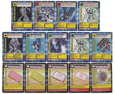 FRENCH DIGIMON BOOSTER SERIES 3 - COMPLETE 14 UNCOMMON CARD LOT (Read Condition)