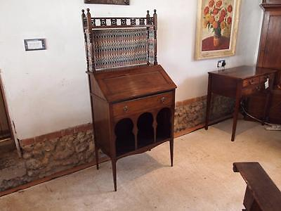 Bureau Arts and Crafts Walnut 'The Medina Bureau' Liberty and co c1889