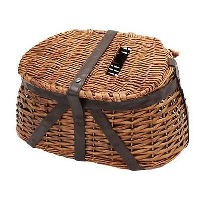 Rivers Edge Products 1505 Antiqued Wicker & Faux Leather Fishing Creel