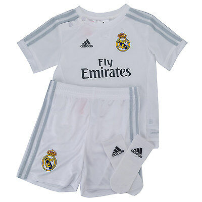 Baby Boys adidas Real Madrid Fc Home Kit In White-2015-2016 Season-Button