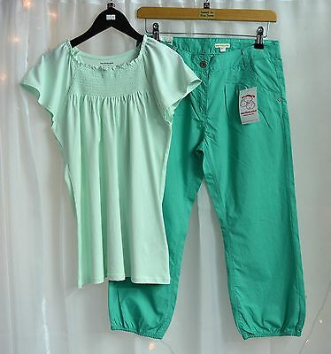 NWT Girls Boutique Outfit Light Green Top & Green Capri Trousers Age 14 Years