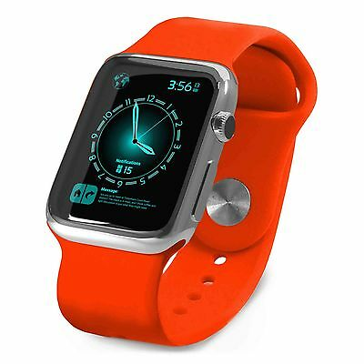 Tuff-Luv Silicone Wrist Watch Strap Band for Apple Sports watch Strap 38mm- Orng