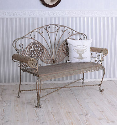 GARDEN BENCH ART NOUVEAU Bench VINTAGE BANK metal antique IRON BENCH