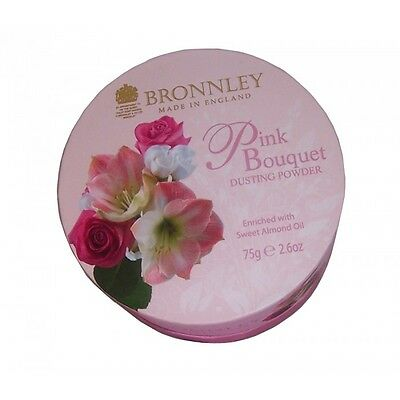 Pink Bouquet x3 Bronnley Pink Bouquet Dusting Powder 75g