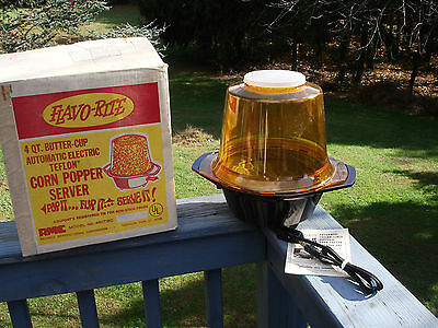 Vintage Flavo-Rite  Electric  Popcorn Popper / Server New In Opened Box