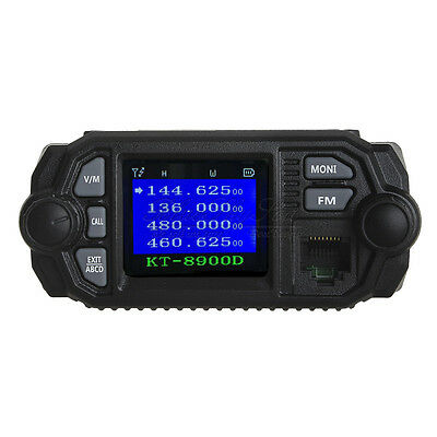 QYT KT-8900D Dual Band VHF UHF Color LCD Quad-Standy Mobile Radio Transceiver