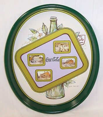 New Coca Cola 5 Tray Set Limited Edition Signed By The Artist Leslie Cope Nos
