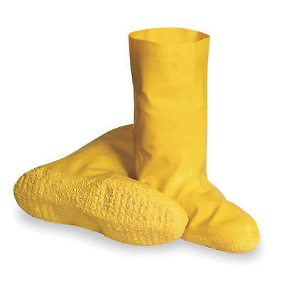 "Condor 4T266 Hazmat Yellow Overboots, Size Large, Shoe Size 10 to 11, 12"" Height"