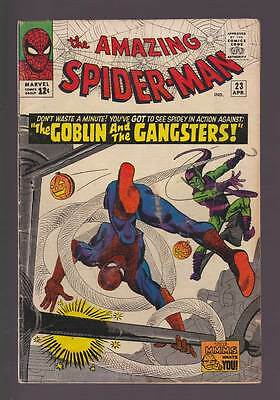 Amazing Spider-Man # 23  The Goblin & the Gangsters !  grade 3.0 scarce book !