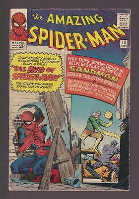 Amazing Spider-Man # 18  The End of Spider-Man !  grade 4.0 scarce book !