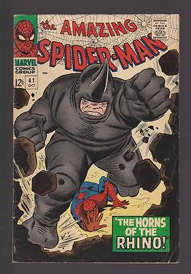 Amazing Spider-Man # 41  The Horns of the Rhino !  grade 5.5 scarce book !