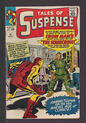 Tales of Suspense # 51  1st app. of the Scarecrow !  grade 5.0 scarce book !