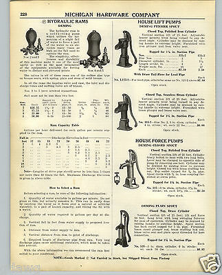 1938 PAPER AD 3 PG Deming Pitcher Spout Closed House Water Force Hand Pump