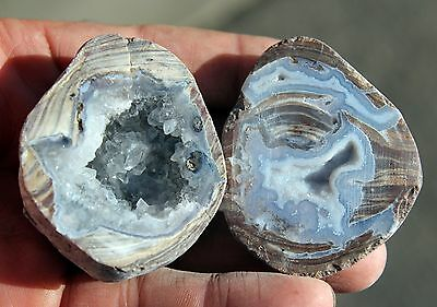 2 Cut & Polished Geode Halves  # 11 from Dugway, Utah