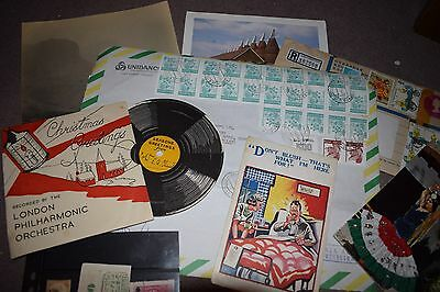 Vintage Paper Ephemera Pack - 75+ Photos, Postcards, Stamps, Pages, Drawings