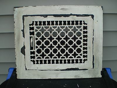 Vintage Victorian Cast Iron Louvered Floor Grate Vent Register