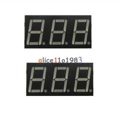 2PCS 0.56 Inch 3 Digit 7 Segment Common Cathode Red Led Display