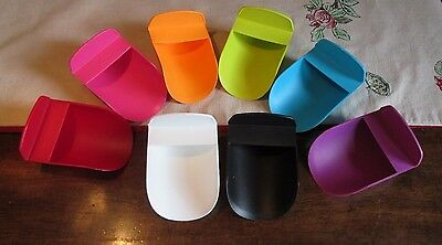 Tupperware NEW  Rocker FLOUR Sugar Canister SCOOP Color Choices  Rainbow