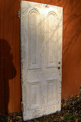 "Vintage, Antique Federal-Style Farmhouse Wood Kitchen Door 78.25""X32""X1.25"""