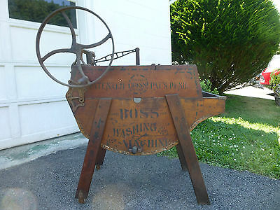Antique Wood Hand Crank Boss Washing Machine No. 1 Late 1800s Must See!! NICE