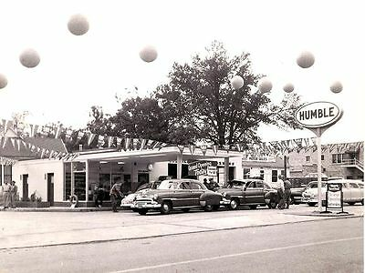 5x7 HUMBLE GAS STATION SERVICE GARAGE late 1940's