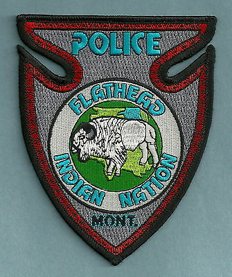 Flathead Nation Montana Tribal Police Patch Buffalo!