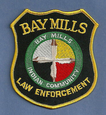 Bay Mills Michigan Tribal Law Enforcement Police Patch