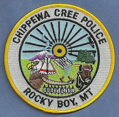 Chippewa Cree Montana Tribal Police Patch